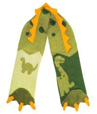 knitted dino scarf