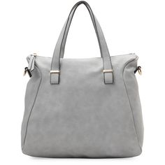Urban Expressions Grey Piper Shoulder Bag ($50) ❤ liked on Polyvore featuring bags, handbags, shoulder bags, grey, shoulder hand bags, grey purse, shoulder bag handbag, shoulder bag purse and grey shoulder bag