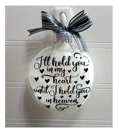 Memorial Ornament Gift - In Loving Memory Infant Loss Gift, Personalized Baby Memorial Christmas Ornament SIDS Add Name & Date Christmas presents – uncommon Christmas ideas Out of all items that we have currently discovered u Christmas Balls, Christmas Wreaths, Christmas Crafts, Christmas Decorations, Christmas Ideas, In Memory Christmas Ornaments, Christmas Quotes, Christmas Pictures, Homemade Christmas