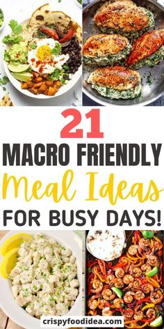 Healthy Family Dinners, Healthy Meals For One, Healthy Meal Prep, Healthy Recipes For Two, Healthy Eating, Macro Friendly Recipes, Macro Recipes, Macro Meal Plan, Clean Dinner Recipes