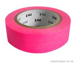 Single MT Washi Tape - Neon Pink