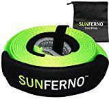 #6: Ultimate Tow Recovery Strap 35000lb  Recover Your Vehicle Stuck in Mud/Snow  Heavy Duty 3 x 20 Winch Snatch Strap  Protective Loops Water-Resistant  Off Road Truck Accessory  Bonus Storage Bag