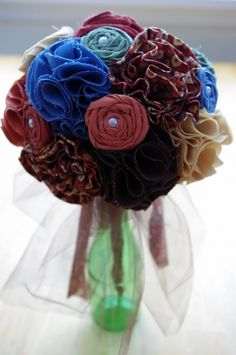 Tutorial for fabric flowers! I want to make some out of a few of my grandpas old shirts!