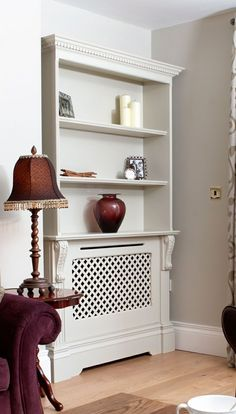 Diy Radiator Cover, Home Radiators, Interior Design Living Room, Interior Decorating, Rug Placement, Living Room Cabinets, Cupboard Storage, Decoration, Diy Furniture