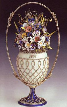 Faberge 1901 Flower Basket Egg