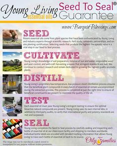 Young Living Essential Oils: Seed to Seal Education. www.theoildropper.com