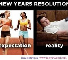 funny new years pics expectation and reality