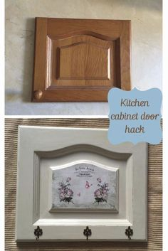 DIY French Vintage Kitchen Cabinet Makeover - DIY Kitchen Cabinet Makeover Before and After, by Pili from My Sweet Things, featured at FineCraftG - Cabinet Door Crafts, Cabinet Door Makeover, Kitchen Cabinet Doors, Painting Kitchen Cabinets, Cupboard Doors, Vintage Kitchen Cabinets, Diy Cabinets, Diy Door, Repurposed Furniture