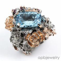 Top 7ct aaa+ Natural Blue Topaz 925 Sterling Silver Ring Size 7.5/R31841 #APBJewelry #Ring