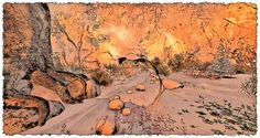 StoryBrooke Gardens Comic Styles, Grand Canyon, Gardens, Tapestry, Nature, Travel, Decor, Hanging Tapestry, Voyage