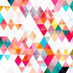 Triangle Color Pattern (3300px x 3300px jpg file) Keywords: triangles, color, pattern, mosaic, collage, grid, abstract, vivid, wallpaper, backdrop, background, pink, turquoise, aqua, yellow, teal, white, modern, purple, gray, bright