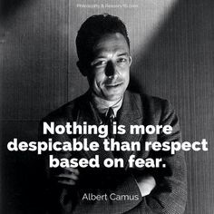 Respect based on fear