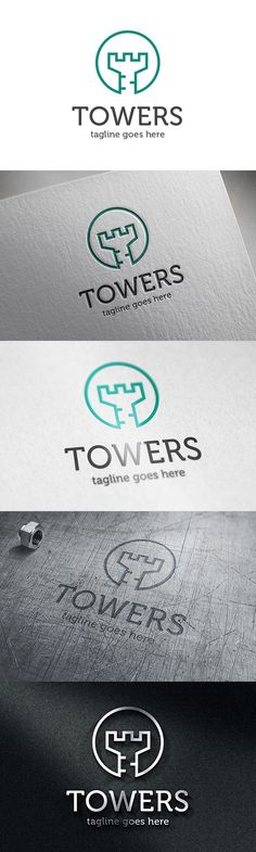 Tower Logo - Letter T. Logo Templates. $30.00