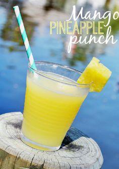 Mango Pineapple- 6 oz orange pineapple juice;, mango rum; splash of sprite.