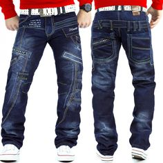 Kosmo Lupo Herren Jeans KM-261d dunkelblau