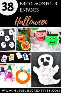 Pour halloween, proposer aux enfants de bricoler avec leurs 10 doigts.  Retrouver des idées de bricolages pour les petits pour célébrer Halloween. De quoi les occuper en attendant le jour J.  Des fantomes, des sorcières, des monstres, ou encore des araignées ou des citrouilles, il y en a pour tout les gouts ! Promis, ils font pas peur ^^  #activitéshalloween #bricolageshalloween #crafthalloween #halloweenforkids #bricolageenfanthalloween #activitésnounou #humeurscreatives