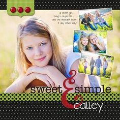 Sweet & Simple – Enchanted Scrapbook Layout from Creative Memories  http://www.creativememories.com