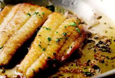 Flounder with Lemon Butter Sauce Recipe (This flounder recipe is easy, elegant, and exceptionally buttery. Pretty impressive for something that you toss together in less than 15 minutes, wouldn't you agree? One of our most popular recipes. Lemon Recipes, Sauce Recipes, Fish Recipes, Seafood Recipes, Cooking Recipes, Lunch Recipes, Paleo Recipes, I Love Food, Good Food