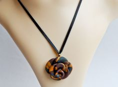 Chocolate, Olive & Gold Rose Necklace Rose Necklace, Washer Necklace, Rose Gold, Necklaces, Chocolate, Jewelry, Jewlery, Pink Necklace, Jewerly