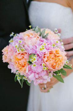 Pretty pink and orange bouquet