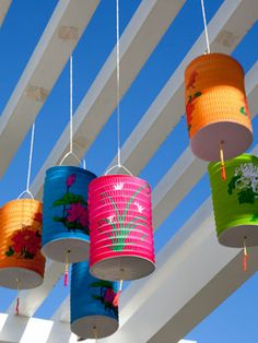 Brightly colored lanterns are so summer