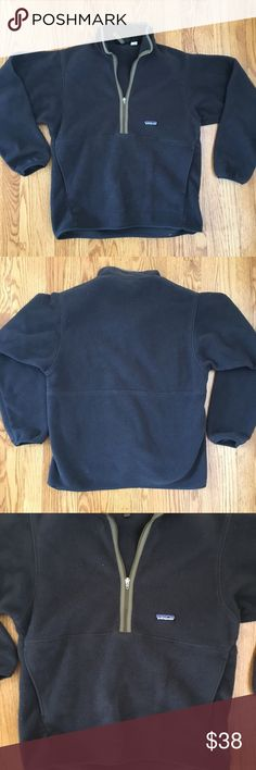 Men's Patagonia synchilla fleece half zip Men's Patagonia synchilla fleece pullover, size medium, great condition, colors are charcoal gray and dark green, offers welcome. Patagonia Shirts Sweatshirts & Hoodies