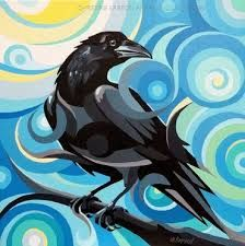 Christine Karron Art and Illustration Art And Illustration, Native Art, Native American Art, Crow Painting, Kunst Der Aborigines, Pop Art, Fine Art Amerika, Raven Art, Aboriginal Art