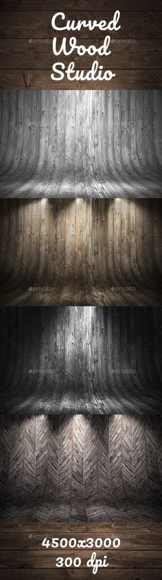 Old Grungy Curved Wooden Studio Background - 3D #Backgrounds Download here:  https://graphicriver.net/item/old-grungy-curved-wooden-studio-background/19721583?ref=alena994