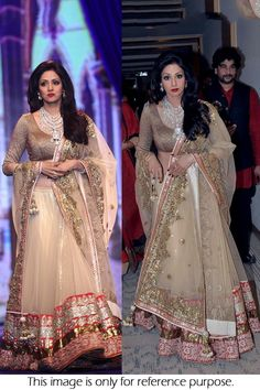 Bollywood celebrities have given a new dimension to the Indian Lehenga giving a whole new range of variety to shoppers. Lehenga worn by Bollywood celebrities have became the latest trend setters for s. Net Lehenga, Lehenga Style, Indian Lehenga, Lehenga Choli, Anarkali, Indian Bridal Outfits, Indian Bridal Wear, Indian Dresses, Indian Wear