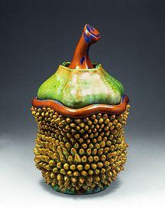Kate Malone Green Sprucey Nut Lidded Box, 2006. Crystalline glazed stoneware