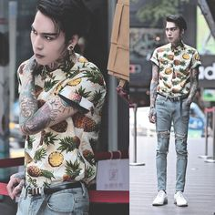 Korean Fashion Trends you can Steal – Designer Fashion Tips Boy Fashion, Mens Fashion, Fashion Outfits, Fashion Tips, Fashion Design, Korean Fashion Trends, Korean Street Fashion, Camisa Floral, Character Outfits