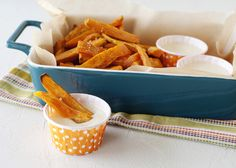 Sweet Potato Fries with Toasted Marshmallow Dip from @Baked Bree