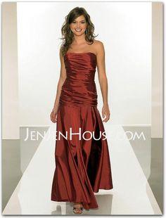 Bridesmaid Dresses - $101.99 - A-Line/Princess Strapless Floor-Length Taffeta Bridesmaid Dresses With Ruffle (007001839) http://jenjenhouse.com/A-line-Princess-Strapless-Floor-length-Taffeta-Bridesmaid-Dresses-With-Ruffle-007001839-g1839