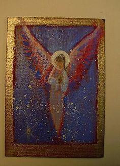 ACEO Original Angel Painting Spiritual Inspirational Healing Energy  CCArtist