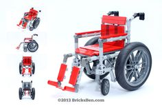 BricksBen - LEGO Wheelchair - Mug Shots | From Jeffrey Kong … | Flickr Lego Building, Model Building, Lego Hospital, Traffic Police, Buses And Trains, Lego Bionicle, Lego Brick, Mug Shots, Legos