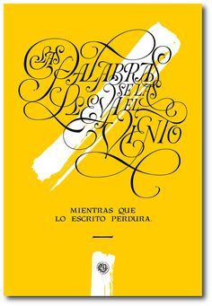 """""""Las Palabras...""""Poster Expo Letras a la Chilena on Behance"""