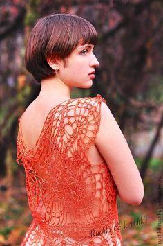"Платье крючком ""Бабочка меднокрылая""  #crochet_dress"