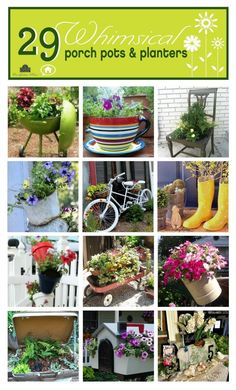DIY:: #29 Beautiful Porch Pots and Planters Projects ! Cureated by @Ann Flanigan Drake @ On Sutton Place
