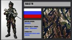 Russian camouflage patterns
