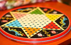 Chinese checkers game--I think we had this exact one.  Mom would beat me :-).