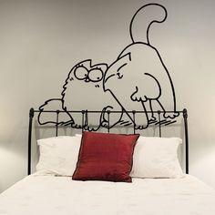 Cute Funny Simon's Cat In Love Applique Vinyl door DeliciousDeals, $9.99