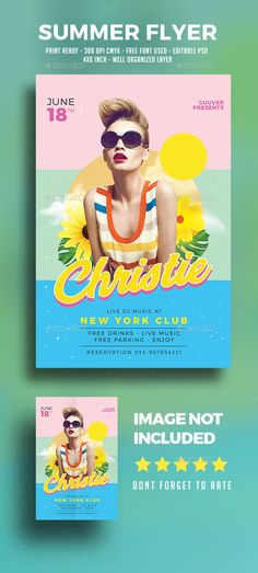 Summer Fashion Flyer Template PSD, AI Illustrator Download here - summer flyer template