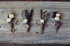 Wildflower vintage boutonnieres
