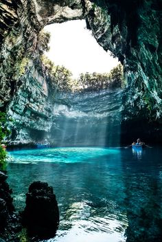 Cephalonia – the island with hidden lake.   I actually went here this past June! It's so stunning and the water is so clear. Definitely worth the the long line! This coming from someone who uses legs braces and cane! So don't be lazy! Its beautiful ❤️