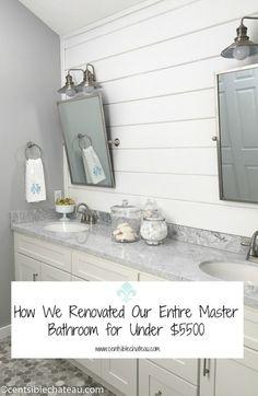 Master Bathroom Makeover CentsibleChateau.com
