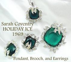 Vintage Sarah Coventry HOLIDAY ICE Necklace by ALLUWANTISHERETODAY, $50.00