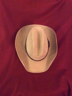 028f0bbdea1 Vintage John B. Stetson 5X Beaver Tan 7 1 8 Cowboy Hat  fashion