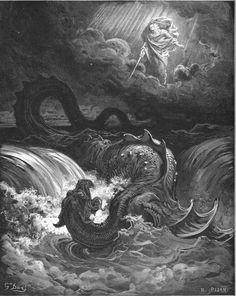The Destruction of Leviathan  Artist: Gustave Dore.  Engraver H. Pisan
