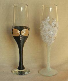 Wedding Glasses Handmade . por AccessoriesbyNicolle en Etsy