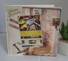 Geburtstagskarte Handwerker für Männer, für Herren, handgemacht von KartengalerieDoris auf Etsy Manners, Etsy, Handmade Birthday Cards, Worth It, Behavior
